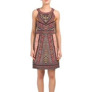 Hale Bob NWT Denise Mixed Jersey Halter Dress